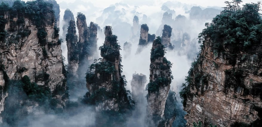 10 Places So Surreal They Could Be From Other Planets Tianzi-mountains-878x427