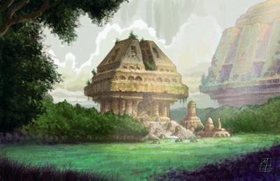 Le grand temple dédié au culte de Gu