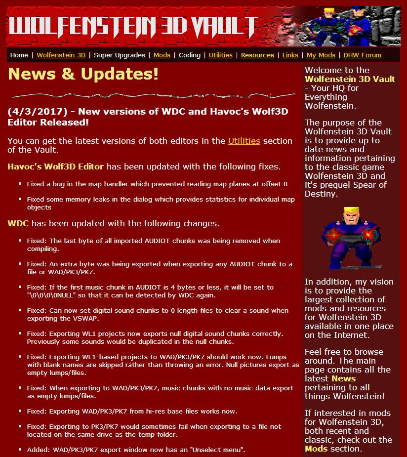 Wolfenstein Goodies News Thread Wolfenvault