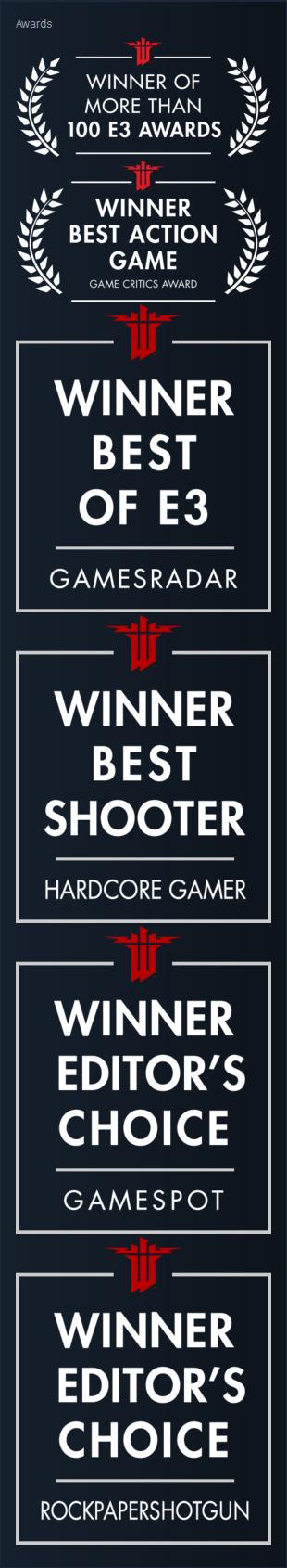 Wolfenstein Goodies News Thread WIInc-awards