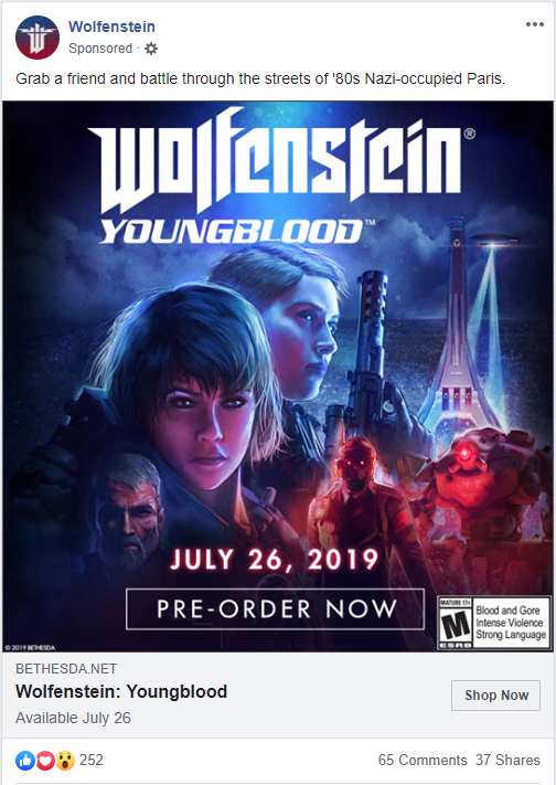 Pre-order Wolf Youngblood &/or Wolf Cyberpilot today WolfensteinYoungblood