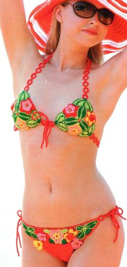 Купальники крючком схемы. Bikini