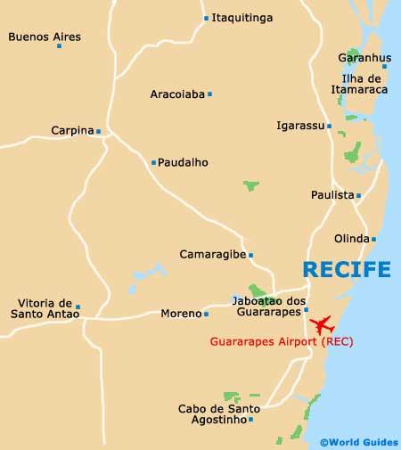 Copa America, Recife, Brasil 2014. [El Salvador termina en cuarto lugar] Recife_map