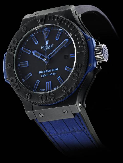 """Aidez-moi à empêcher quelqu'un d'acheter une Rolex ou JLC """"Colette"""" ! - Page 2 Hublot-big-bang-king-all-black-blue-diving-watch"""