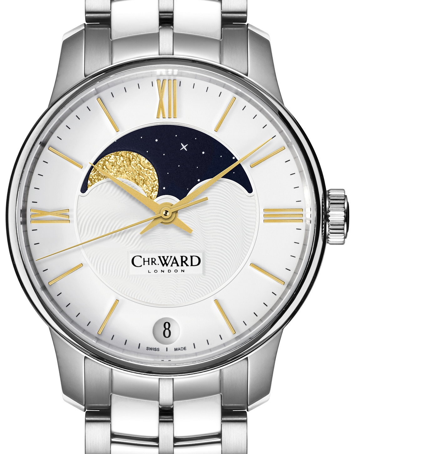 Christopher Ward's C9 Moonphase Chr-christopher-ward-c9-moonphase-wristwatch-silver-dial-front
