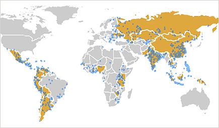 Les 10 filières industrielles les plus toxiques au monde Map-2012