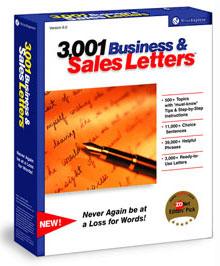 3,001 Business & Sales Letters Salesletters