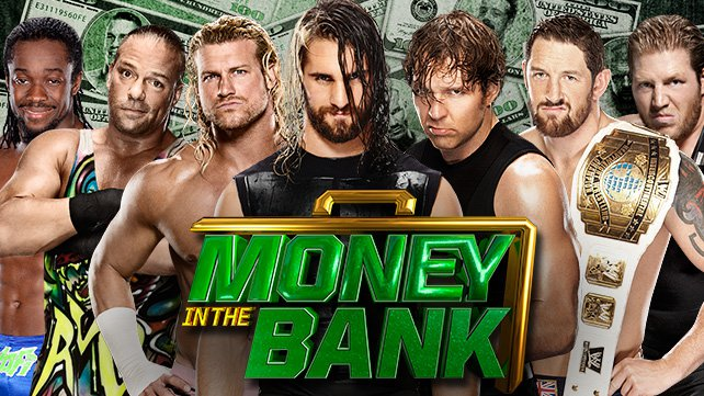 Confirmed and Potential Matches for WWE Money in the Bank 2014 20140617_EP_LIGHT-Match-Rollins_Kofi_RVD_Ziggler_Ambrose_Barret_Swagger_HOMEPAGE