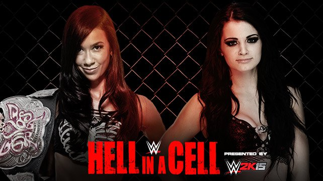 Cartel WWE Hell In A Cell 2014 20141013_EP_LIGHT_HIAC_AJ_PAIGE_HOME