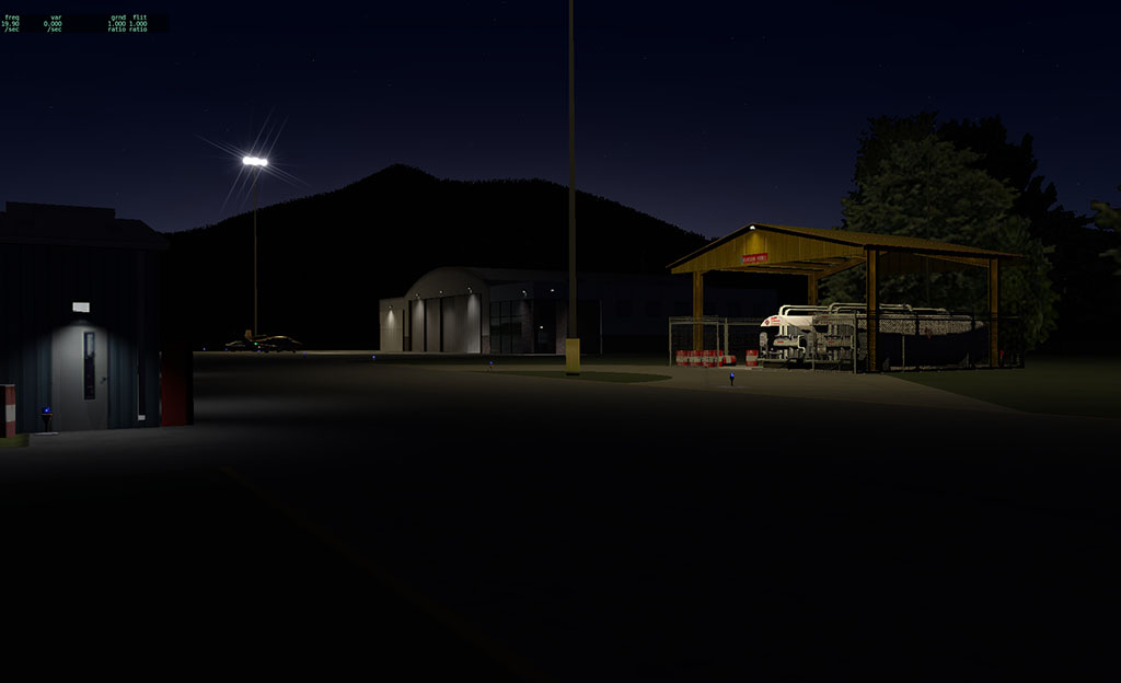 X-plane 10 novas shots Airport_with_fuel_depot_night