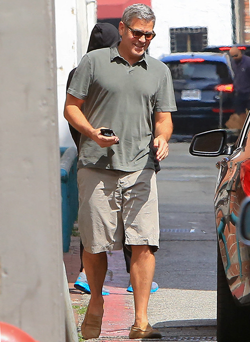 George out and about in LA May 31 2015 Clooney-smiles-053115