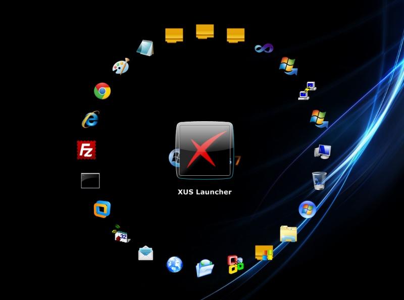 أجمل برنامج لإدارة وتنظيم سطح المكتب XUS Desktop 2.3.0 Xus-desktop-screenshot-1