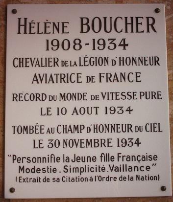 Hélène Antoinette Eugénie Boucher, aviatrice HB14