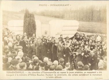 Hélène Antoinette Eugénie Boucher, aviatrice Inauguration_monument_HB