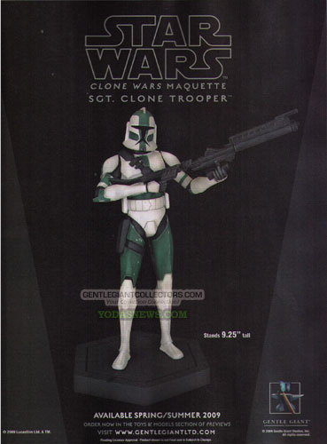 Gentle Giant - Clone Wars Maquette  Sgt Clone Trooper  GGSGTCLONESMALL
