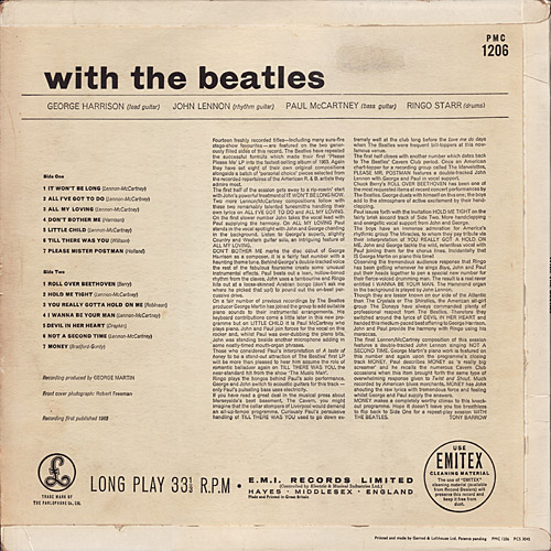 With The Beatles  With_mono_y1_jobete1N_back_large