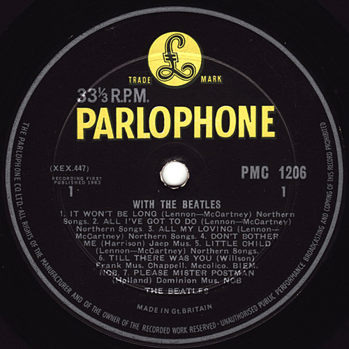 With The Beatles  With_mono_y7N_decca_side1_large