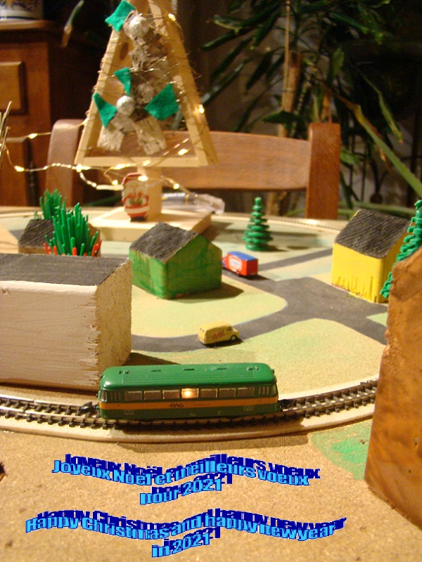 Train de sapin de Noël Noel2020