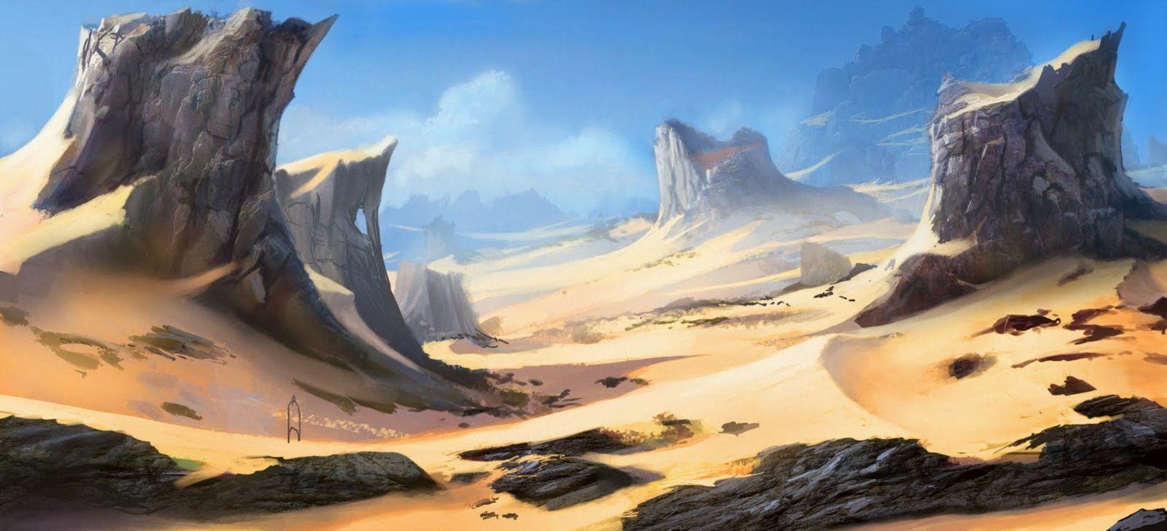 Le désert blanc Artwork-desert-pierres