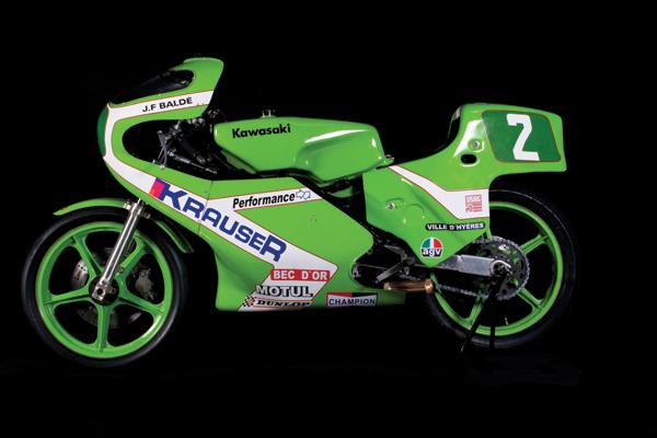 EXPO. Motos de carrera. Los años del vértigo: 1970 -1980. Colección Scalise Kawa-250-Balde