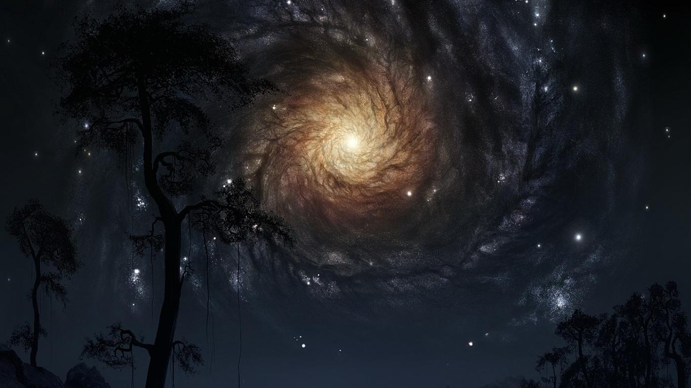 Звёздное небо и космос в картинках - Страница 6 Drawn_wallpapers_Starry_Sky_013880_