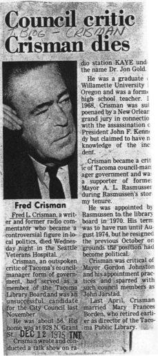 Militaire: Fredric Lee Crisman (1946) Crisman_dies