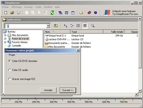 مكتبه برامج أدوات التحكم بملفات الدي في دي والسي دي Deepburner