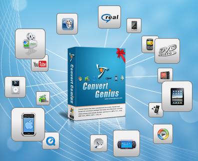برنامج رائع!من أشهر برامج تحويل صيغ الفيديو..يدعم معظم صيغ الفيديو تقريبا+جودة عالية! Convert-genius