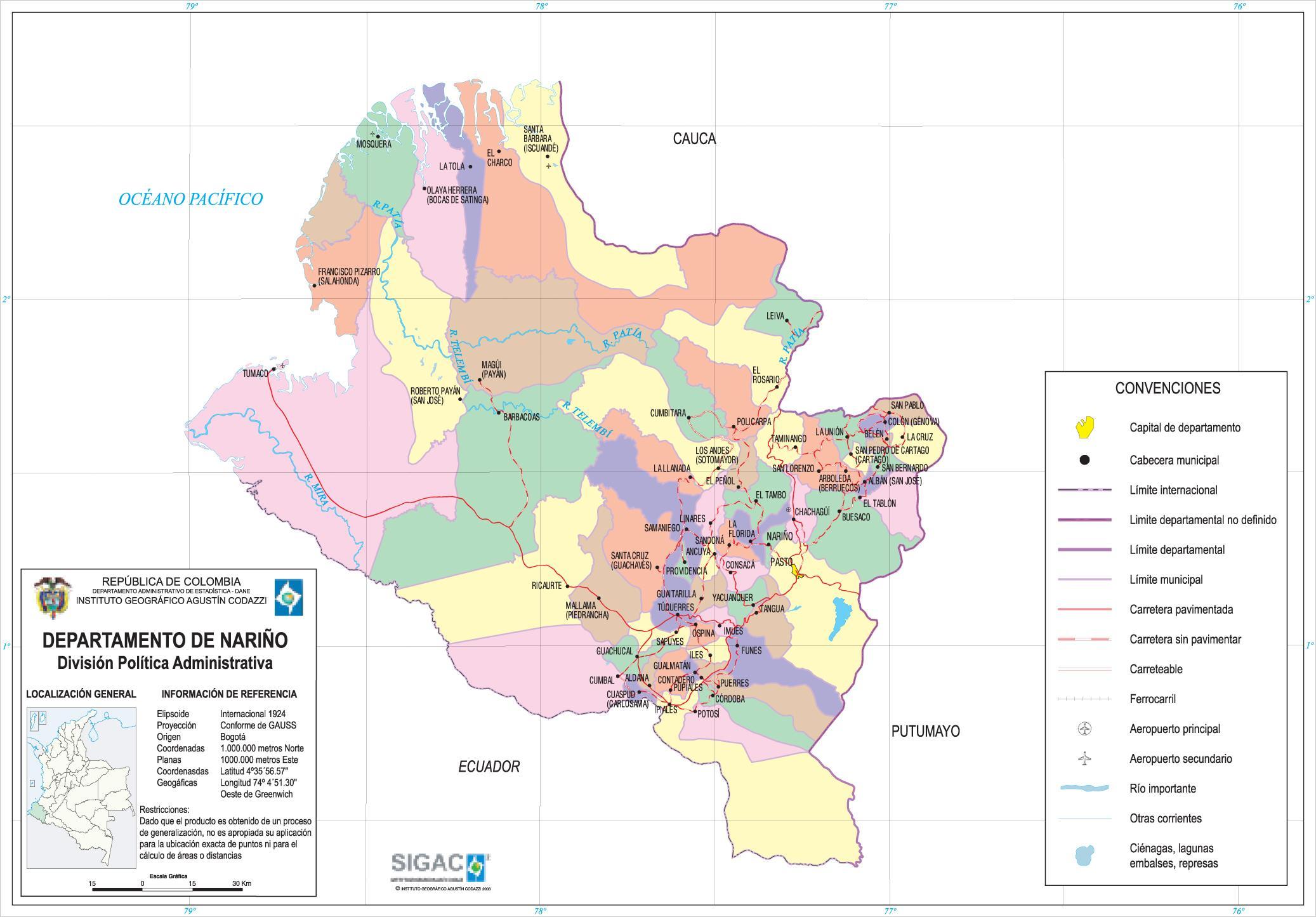 Jeu-O-Graphie III : La Coupe du Monde - Page 21 Narino_Department_Map_Colombia_2