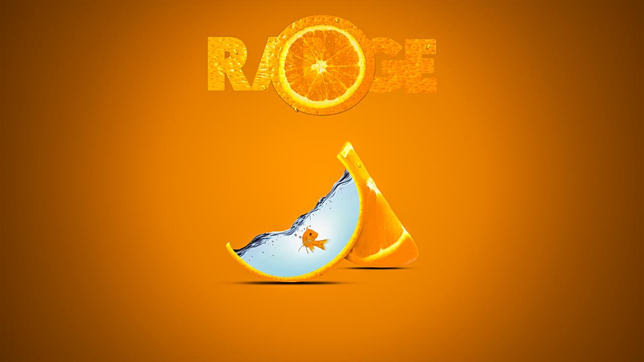 صمم بنفسك - تصميم دعائي دمج المياة والسمك فى شريحة برتقال 957202697