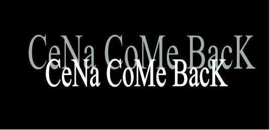 CeNa CoMe BacK 881705708