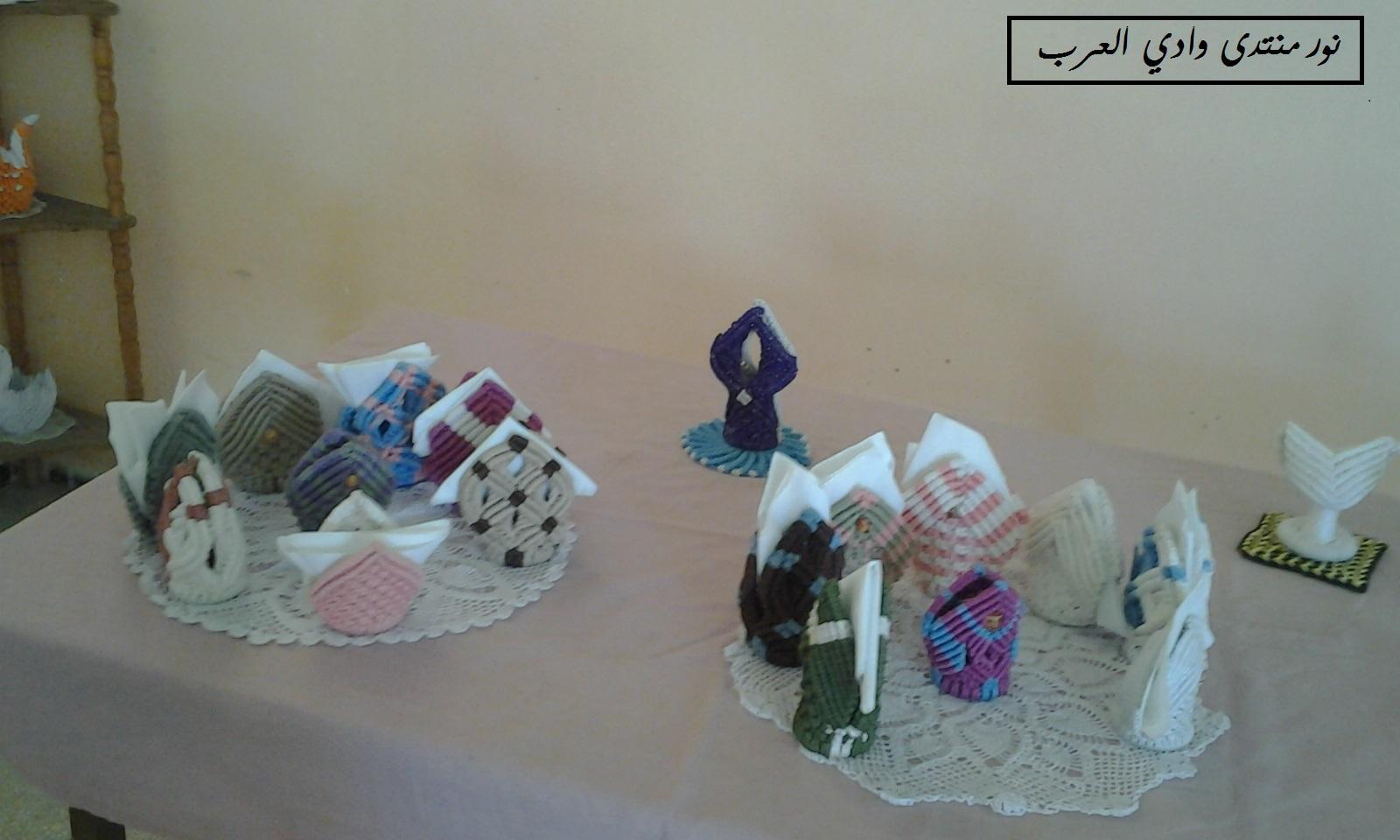 معرض خاص بإنجازات  المتخرجات من فرع الماكرامي بمركز زريبة الوادي 775992695
