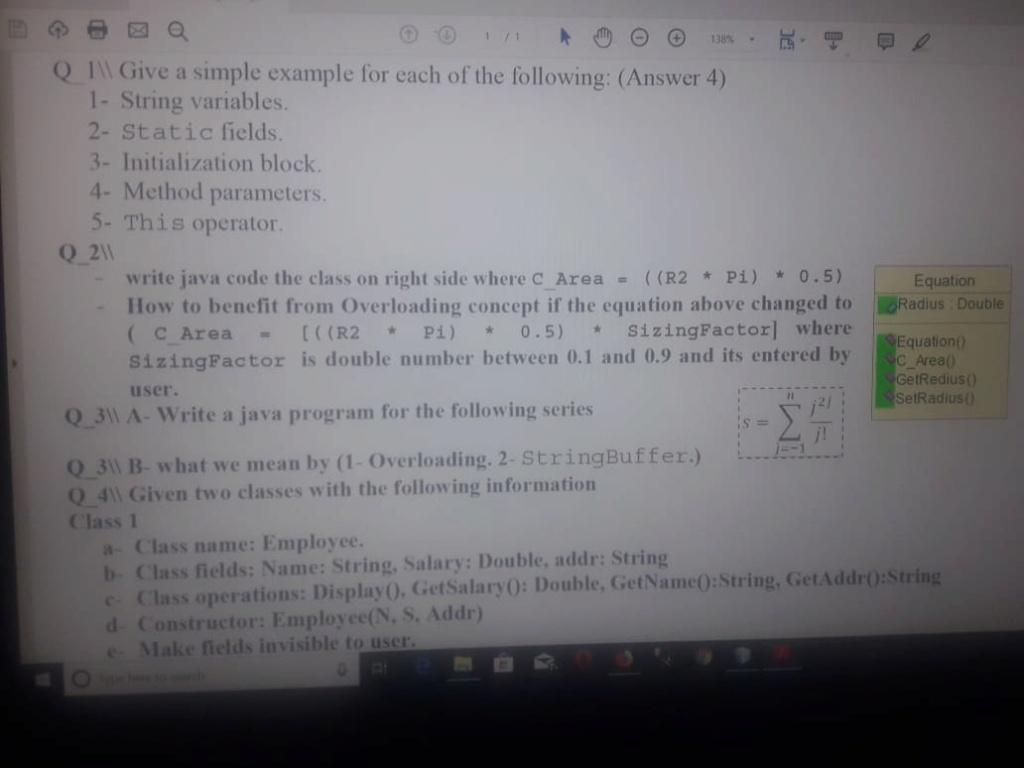 حل اسئلة وتمارين بلغة جافا الجزء الثاني 247878920