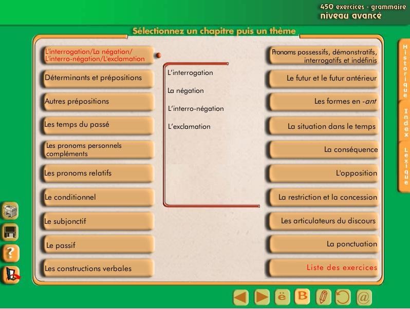 برنامج رائع لتعلم اللغة الفرنسية 450 exercice de grammaire 546399213
