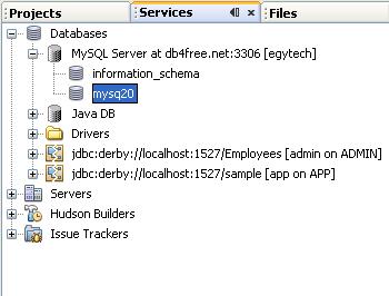 دورة الجافا الرسومية بأستخدام NetBeans ...الدرس(17)_قواعد البيانات (إنشاء قواعد بيانات MySQL من خلال NetBeans)! 690893618