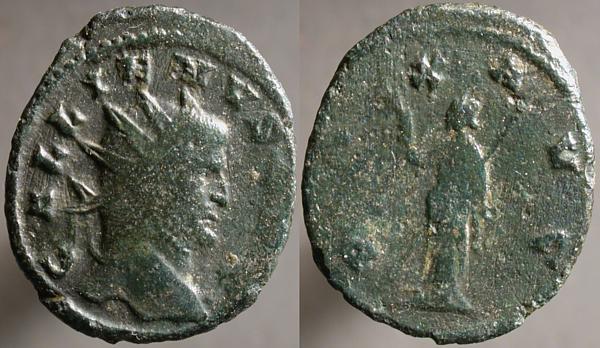 Antoniniano de Galieno. PAX AVG. Roma? Erf_ri3420