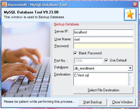 مشروع يوضح كيفية عمل Backup / Restore لقاعدة بيانات MySQL  458947735