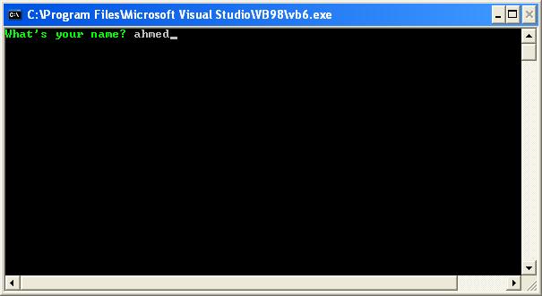 [VB6] إنشاء التطبيقات غير الرسومية Console Application من خلال الفجوال بيسك 6 529680291