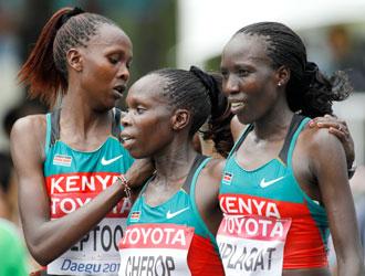 Kenya:Mondiali, il volo spezzato di Hooker...il podio alle 3 sorelle Kenyane. Kenya01g