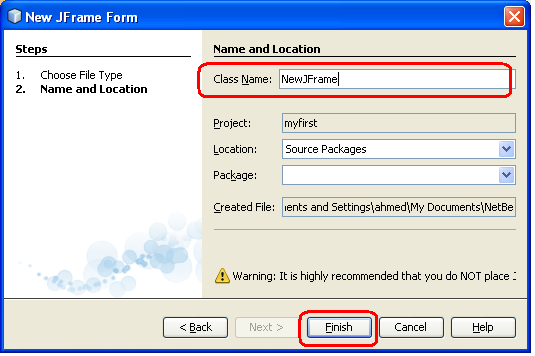 [Java] دروة الجافا الرسومية بإستخدام NetBeans ....الدرس (8 ) التعامل مع العناصر الرسومية (النوافذ و الاطارات Farme )! 120317425