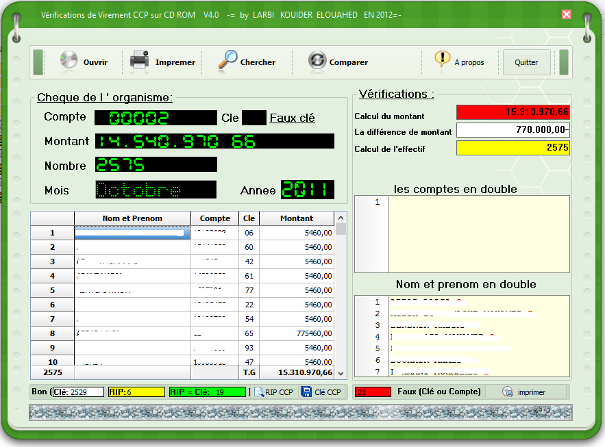 برنامج لفحص virement CCP و تحويل Rip إلى Clé القديم ** من تصميمي ** 871865965