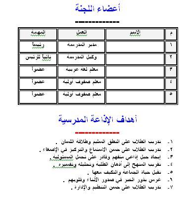 ثلاث ملفات للإذاعة المدرسية بالعربى و الفرنسى و الإنجلش بكل سجلاتها لكل أنواع المدارس كوتيل نادر ورد سهل تعديله 205302393