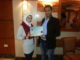 دكتور محمد خالد علوش مع فريق الجامعة الدولية في دمشق 529637257