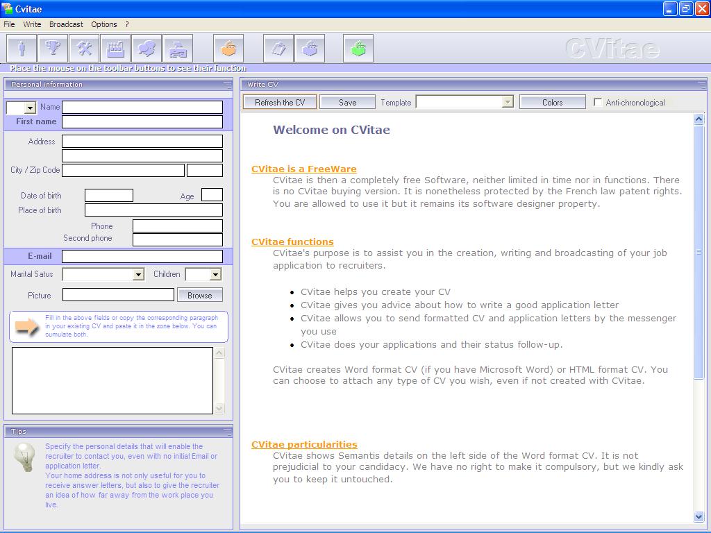برنامج cvitae أقوي برنامج لإنشاء السيرة الذاتية 900124663