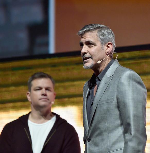 George Clooney at CinemaCon presenting Suburbicon 697b3ffbly1fe3jn8m309j20g70gidke