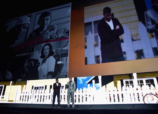 George Clooney at CinemaCon presenting Suburbicon 693f7a02gy1fe41dbs59vj20h00c8dh1