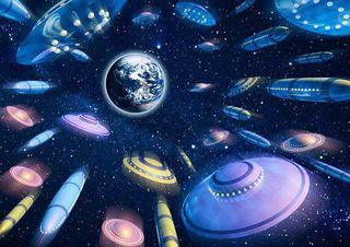 Только Лучшие Новости! Замечательная Новость! Флот Света: миллиарды Галактических Кораблей – предназначены для окончательного удаления с Земли наиболее проблемных исполнителей смерти и разрушений 0-320134
