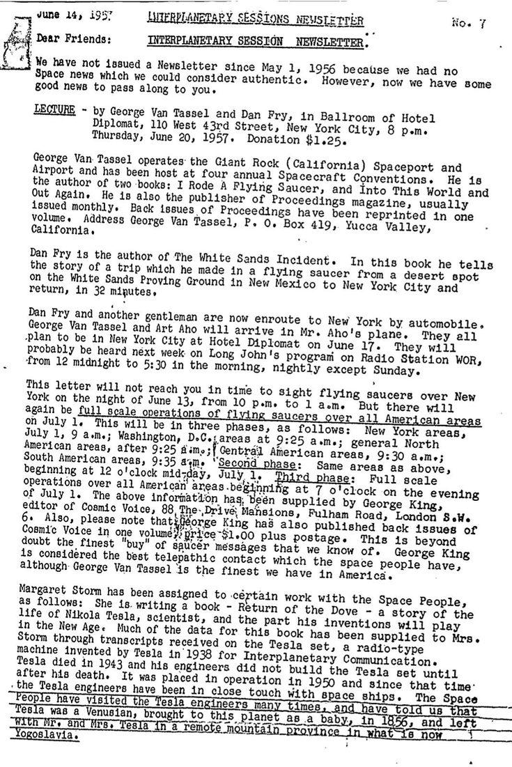 Рассекреченный документ ФБР: Никола Тесла – человек с Венеры! Rhttearwg