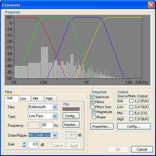 Bi-Amp con il T-amp Foo_dsp_xover_main