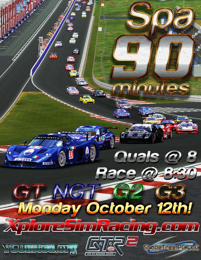 2015 Spa 90 GTR2 Fun Race at XSR! 2015Spa90_Poster